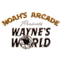"WAYNE'S WORLD ORIGINAL SCREEN-USED ""NOAH'S ARCADE"" NEON SIGN"