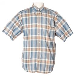 "TOM HANKS ""FORREST"" STRIPED SHORT-SLEEVE SHIRT FROM FORREST GUMP"
