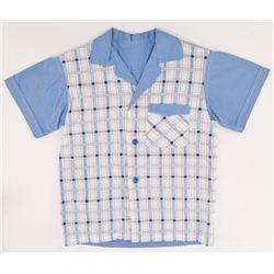 "MICHAEL CONNOR HUMPHRIES ""YOUNG FORREST"" DIAMOND-CHECKED SHIRT FROM FORREST GUMP"