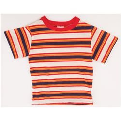 "HALEY JOEL OSMENT ""LITTLE FORREST"" STRIPED T-SHIRT FROM FORREST GUMP"