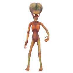 MARS ATTACKS STOP MOTION PUPPET
