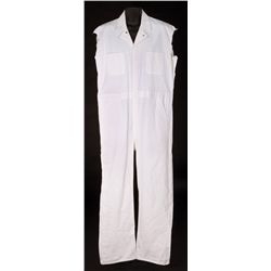 "JEFF BRIDGES ""THE DUDE"" WHITE CANVAS COVERALLS FROM THE BIG LEBOWSKI"