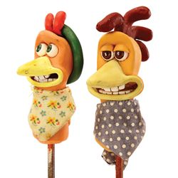 "CHICKEN RUN ""ROCKY & GINGER"" FINAL MAQUETTES"