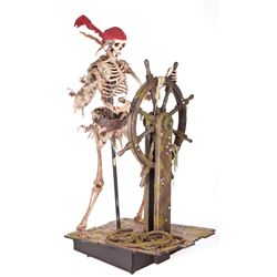 PIRATES OF THE CARIBBEAN: CURSE OF THE BLACK PEARL SKELETON DISPLAY USED IN POSTER ART