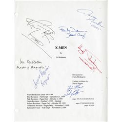 X-MEN CAST SIGNED SCRIPT