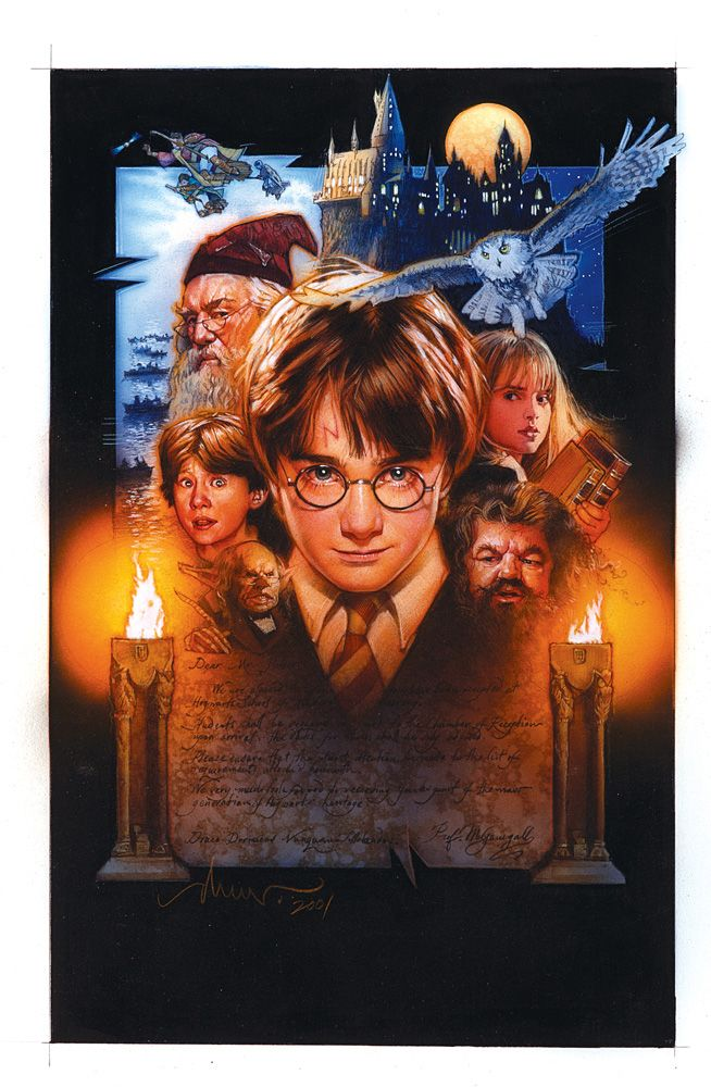ORIGINAL POSTER ART FOR HARRY POTTER AND THE SORCERER\'S STONE BY ...