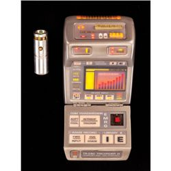 STAR TREK: VOYAGER ILLUMINATNG STARFLT MARK IX MEDICAL TRICORDER W/ REMOVABLE ILLUMINATNG HND SCANNR