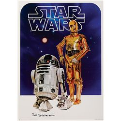 STAR WARS: EPISODE IV- A NEW HOPE SET OF (4) PERSONALITY POSTER PROOFS SIGNED BY THE DESIGNER