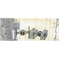 STAR WARS: EPISODE IV- A NEW HOPE JOE JOHNSTON PEN & INK STORYBOARD OF T.I.E. FIGHTERS