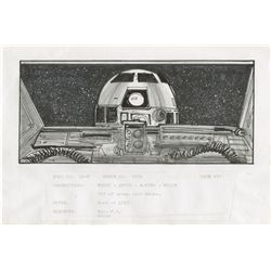 STAR WARS: EPISODE V- THE EMPIRE STRIKES BACK PEN & INK STORYBOARD OF R2-D2 IN X-WING FIGHTER