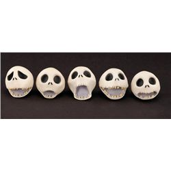 "(5) ""JACK SKELLINGTON"" PUPPET HEADS FROM THE NIGHTMARE BEFORE CHRISTMAS AND JAMES & THE GIANT PEACH"