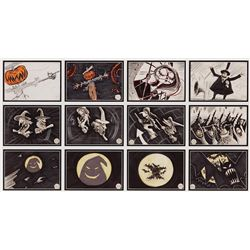 "THE NIGHTMARE BEFORE CHRISTMAS ""THIS IS HALLOWEEN"" SEQUENCE OF (12) STORYBOARDS"
