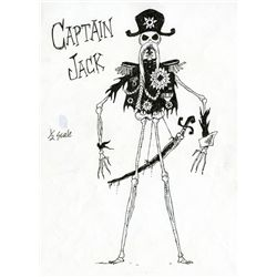 "ORIGINAL CHARACTER STUDY SKETCH OF ""CAPTAIN JACK"" FOR JAMES AND THE GIANT PEACH"