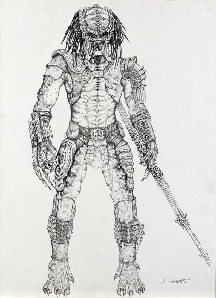 PREDATOR LARGE FULL BODY CONCEPT DRAWING FROM Loading Zoom