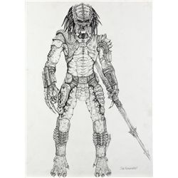 """PREDATOR"" LARGE FULL BODY CONCEPT DRAWING FROM PREDATOR"