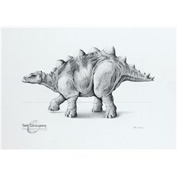 ORIGINAL CONCEPT ARTWORK OF BABY STEGOSAURUS FROM THE LOST WORLD: JURASSIC PARK II