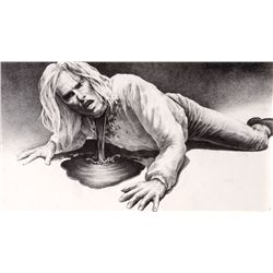 "ORIGINAL CONCEPT ARTWORK OF TOM CRUISE AS ""LESTAT"" FROM INTERVIEW WITH THE VAMPIRE"