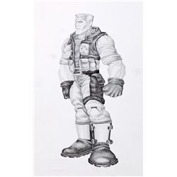 "ORIGINAL CONCEPT ARTWORK OF ""CHIP HAZARD"" FROM SMALL SOLDIERS"