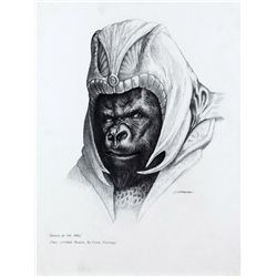 CONCEPT ARTWORK OF A GORILLA SOLDIER FROM PLANET OF THE APES ORIGIN