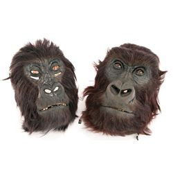 HERO ANIMATRONIC AND BACKGROUND GORILLA HEADS FROM INSTINCT