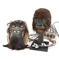 HERO ANIMATRONIC BABY GORILLA HEAD AND BACKGROUND ADULT GORILLA FROM INSTINCT