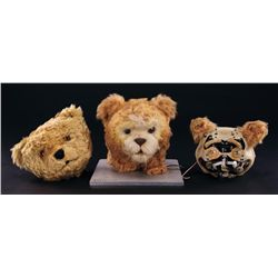 "PAIR OF SCREEN-USED ANIMATRONIC ""TEDDY"" HEADS & PRODUCTION HEAD FROM A.I.: ARTIFICIAL INTELLIGENCE"