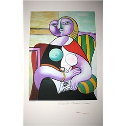 Limited Edition Picasso - Woman Reading - Collection Domaine Picasso