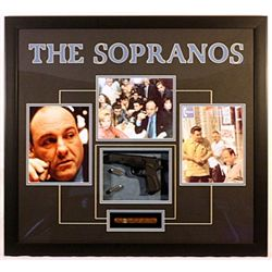 Three Tv show stills from SOPRANOS