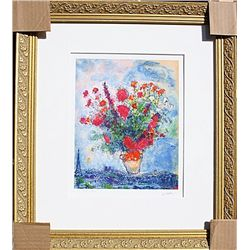 Bouqet Over City  - Chagall - Limited Edition