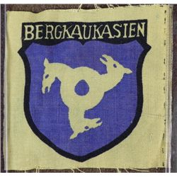 NAZI ORIGINAL BERGKAUKASIEN SLEEVE PATCH