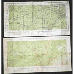 2 WWII STRATEGIC MILITARY MAPS CINCINNATI AND NASHVILLE