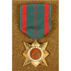 U.S. VIETNAM SERVICE MEDAL & RIBBON STARBURST IN GILT