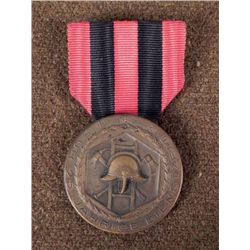 NAZI FIREFIGHTER'S 25 YEAR SERVICE MEDAL WITH RIBBON
