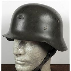 GERMAN TYPE M42 COMBAT HELMET WITH LINER AND CHINSTRAP