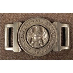 TWO PIECE CIVIL WAR VETERAN'S CONFEDERATE BELT PLATE