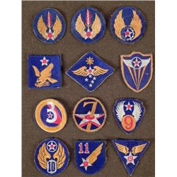 12 WWII U.S. AIR FORCE PATCHES