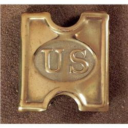 ORIGINAL SPANISH-AMERICAN WAR US CARTRIDGE BELT BUCKLE