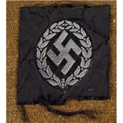 NAZI SWASTIKA IN WREATH PATCH