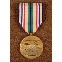 U.S. SOUTHWEST ASIA SERVICE MEDAL IN GILT WITH RIBBON