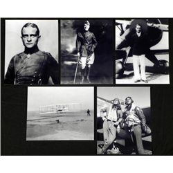 5 Photos Famous Pilots,WWII Red Baron, Tuskegee, Rommel