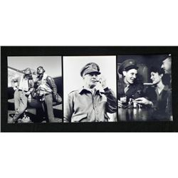 3 WWII Photos Soldiers MacArthur, Tuskegee Airman
