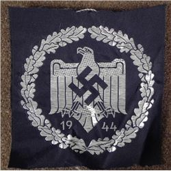ORIGNIAL NAZI 1944 SPORTS EAGLE AND SWASTIKA PATCH