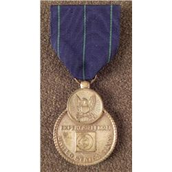 WWII NAVY EXPERT RIFLEMAN AWARD MEDAL AND RIBBON