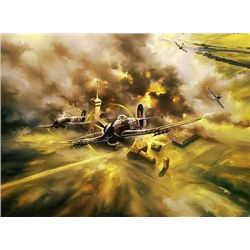 Aviation Art Rumbold's Renegades Poole Typhoon