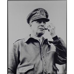 General MacArthur with Pipe WWII Photo
