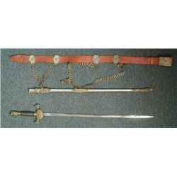 1910 KNIGHTS OF PYTHIAS-SECRET SOCIETY SWORD