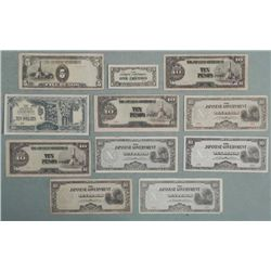 11 Pcs of Japan Occupational Currency WWII