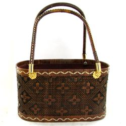 Finely Hand-woven Lipao Gold Plate Handbag (ACT-453)