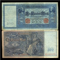 1910 Germany 100 Mark Note Hi Grade Rare (CUR-05668)
