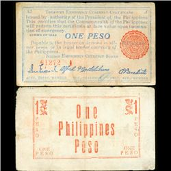 1944 WW2 Guerrilla Rebel Philippines 1P Note Negros (CUR-07215)